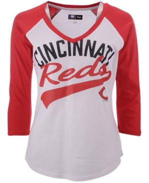 G-iii Sports Women's Cincinnati Reds Its A Game Raglan T-Shirt