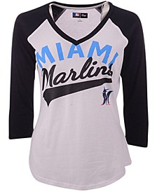 G-III Sports Women's Miami Marlins Its A Game Raglan T-Shirt