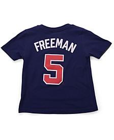 Toddler Atlanta Braves Name and Number Player T-Shirt Freddie Freeman