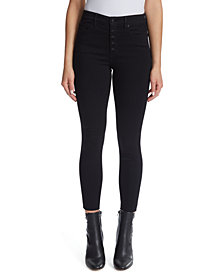 Ella Moss High-Rise Button-Fly Skinny Ankle Jeans