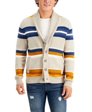 Men's Vintage Sweaters History Sun  Stone Mens Timber Cardigan Created for Macys $19.99 AT vintagedancer.com