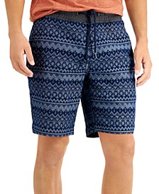 Men's Lynch Jacquard Pull-On Shorts, Created for Macy's