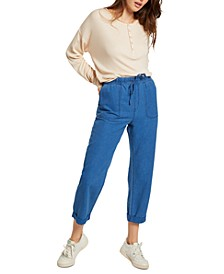 Juniors' Sunday Strut Tie-Waist Pants