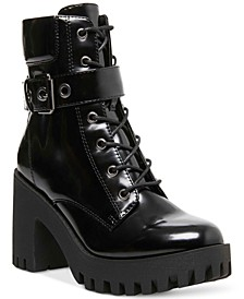 Coco Lace-Up Lug Sole Booties