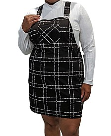 Trendy Plus Size Plaid Skirtall