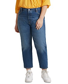 Trendy Plus Size 501 Cropped Straight-Leg Jeans