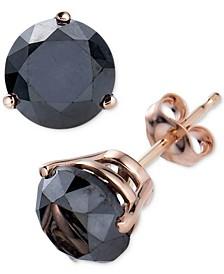Black Diamond Stud Earrings (3 ct. t.w.) in 14k Rose Gold