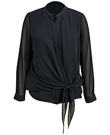 Tie-Front Blouse, Created for Macy's