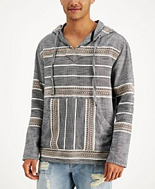 Men's Textured Jacquard Popover Hoodie, Created for Macy's