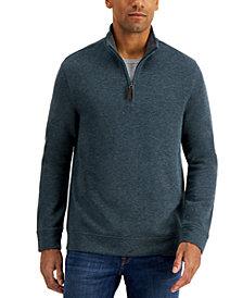Tasso Elba Men's Birdseye Quarter-Zip Sweater, Created for Macy's