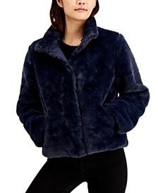 Marayln & Me Juniors' Faux-Fur Jacket