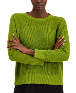 Eileen Fisher CREWNECK SWEATER, REGULAR & PETITE
