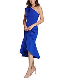 Vince Camuto One-Shoulder A-Line Dress