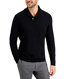Men's Textured Shawl-Collar Sweater, Created for Macy's