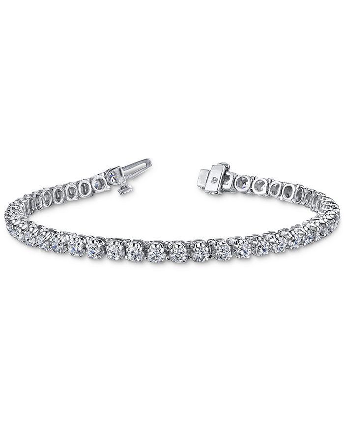 Macy's - Diamond Tennis Bracelet (10 ct. t.w.) in 14k White Gold