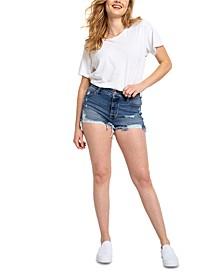 Juniors' Mom Shorts