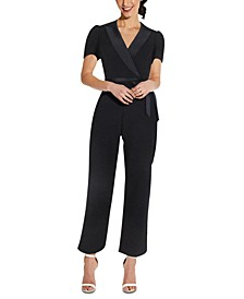 Cropped Crepe Jumpsuit