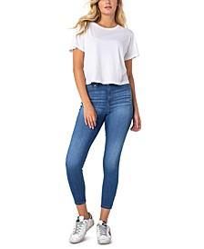 Juniors' Curvy Mid-Rise Skinny Jeans