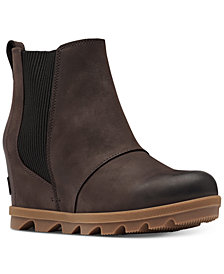 Sorel Women's Joan of Arctic Wedge II Waterproof Lug Sole Chelsea Booties