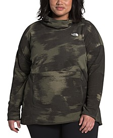 Plus Size TKA Printed Glacier Hooded Fleece Pullover