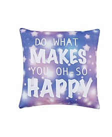 "Wanderlust Happy 18"" L x 18"" W Decorative Pillow"