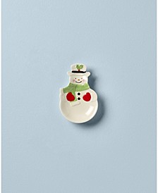 Hosting The Holidays Snowman Spoon Rest