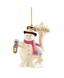 2020 North Pole Snowman Ornament