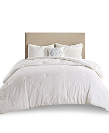 Madison Park Prelude 4 Piece Microsculpt Full/Queen Comforter Set