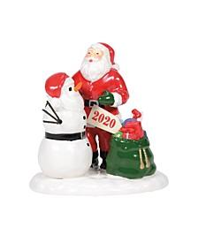 Snow Village Santa Comes to Town 2020