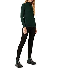 Mock-Neck Knit Sweater