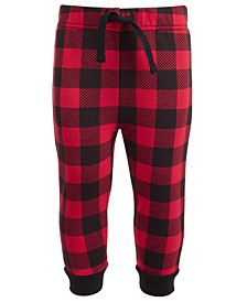 Baby Boys Buffalo Check Jogger Pants, Created for Macy's