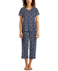 Plus Size Cotton Capri Pajama Set, Created for Macy's