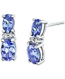 Tanzanite (1-5/8 ct. t.w.) & Diamond Accent Drop Earrings in 14k White Gold