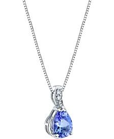 """Tanzanite (3/4 ct. t.w.) & Diamond Accent 18"""" Pendant Necklace in 14k White Gold"""