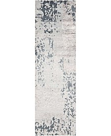 "Silk Shadows SHA16 Silver 2'3"" x 8' Runner Rug"