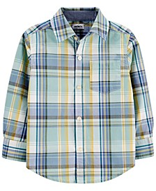 Toddler Boy Plaid Poplin Button-Front Shirt