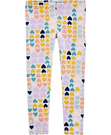Toddler Girls Heart Leggings