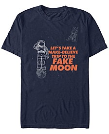Men's A Make Believe Trip To The Fake Moon Short Sleeve T-Shirt