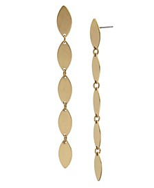 Oval Disc Linear Earrings