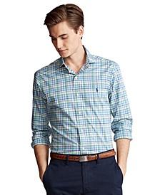 Men's Slim-Fit Plaid Poplin Shirt