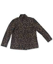Cotton Animal-Print Utility Jacket, Created for Macy's