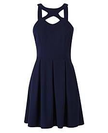 Juniors' Cross-Front Fit & Flare Dress