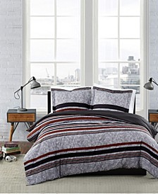 Warren Stripe 2 Piece Duvet Cover Set, Twin XL
