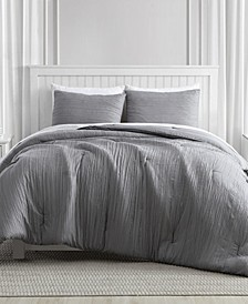 Greenport Crinkle Comforter Set in 3-Piece, Queen