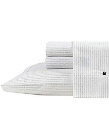 Buoy Line Cotton Percale Sheet Set, Twin
