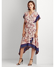 Crepe Fit-and-Flare Dress, Regular & Petite Sizes