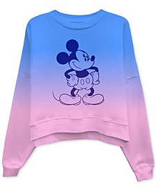 Juniors' Mickey Mouse Dip-Dyed Sweatshirt