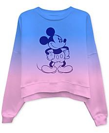 Juniors' Mickey Mouse Dip-Dyed Sweatshirt