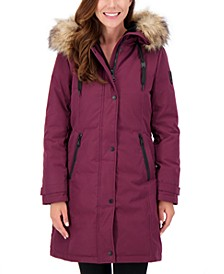 Faux-Fur-Trim Hooded Parka, Created for Macy's