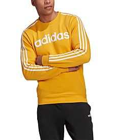Men's Essentials 3-Stripes Fleece Logo Crew